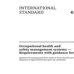 الانتقال إلى أيزو 45001 : 2018 نظام إدارة الصحة والسلامة المهنية في الجيوتكنيك