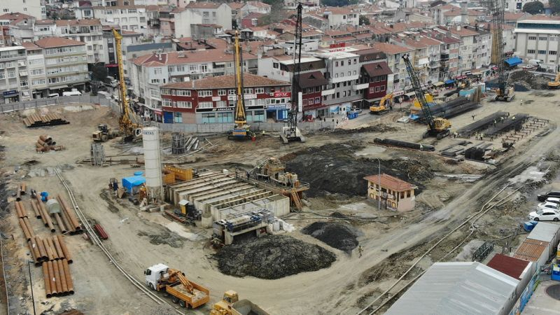 Üsküdar Hakimiyeti Milliye Bazaar and Underground Car Park Project  Shoring and Top-down Pile Works
