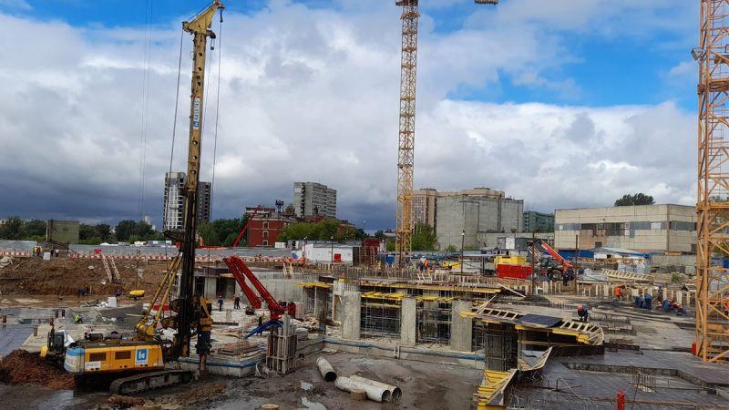 مشروع مجمع سمڤول المرحلة-٢ أعمال حفر الخوازيق