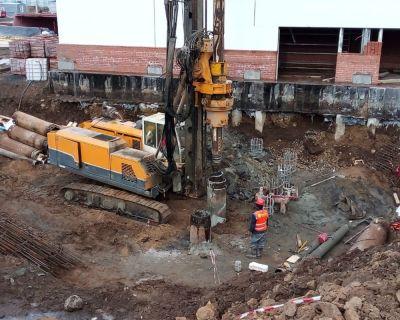 Ust-Ilimsk Depot Station Phase-2 Bored Pile Works