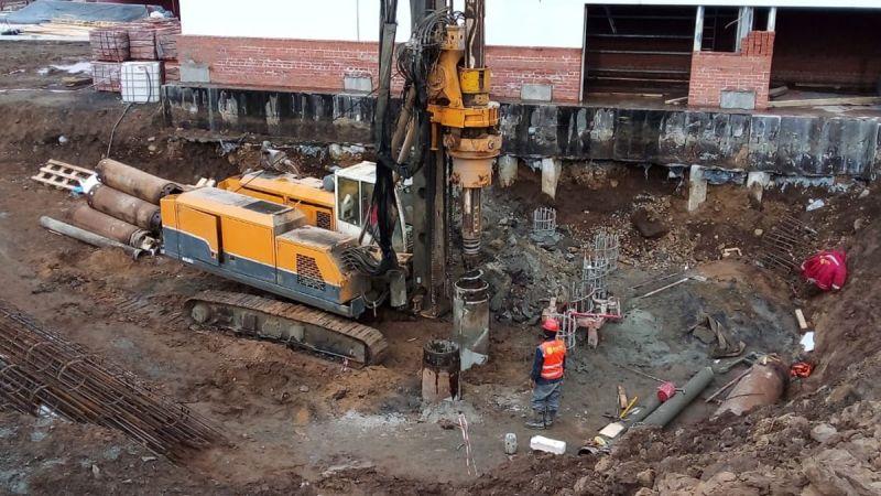 أعمال الخوازيق المثقوبة المرحلة الثانية لمحطات التخزين مدينة أست-إليمسك