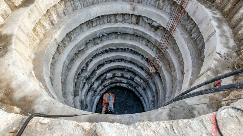 Alarko Kabataş Construction Site, Shoring Works of NATM, TBM and Turnout Shaft