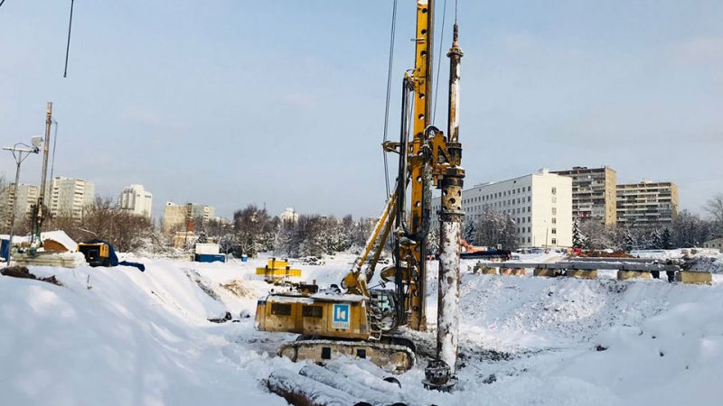 Within the scope of the Michurinsky residency project in Moscow, test pile construction works were started by Kasktaş